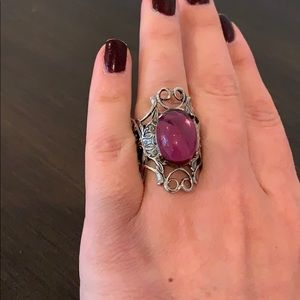 Jewelry - Silver Amethyst large cocktail statement ring